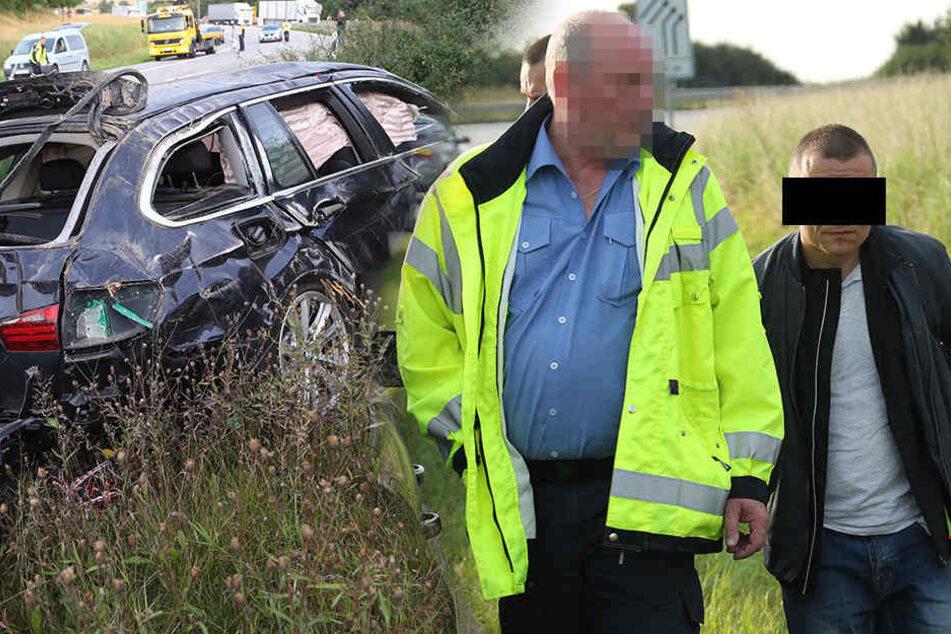 Nach wilder Verfolgungsjagd auf A4: Hier wird der Fahrer verhaftet