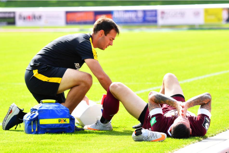 Panagiotis Vlachodimos (r.) musste noch in der ersten Halbzeit verletzungsbedingt ausgewechselt werden.
