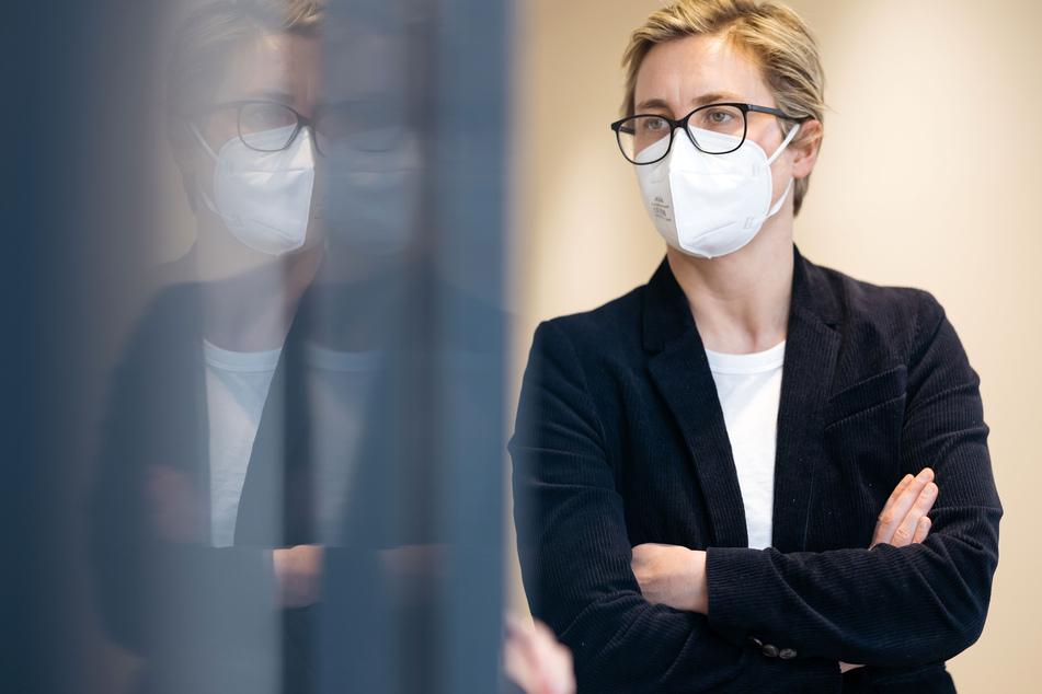 Susanne Hennig-Wellsow (43, Linke), Bundesvorsitzende ihrer Partei.