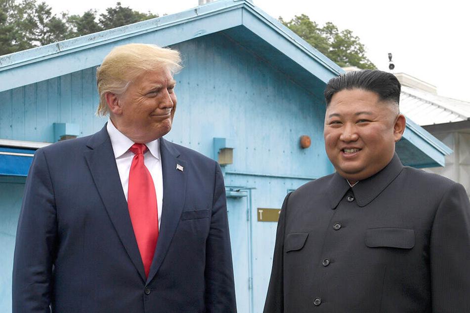 Machtmenschen unter sich. Kürzlich trafen sich Donald Trump (73) und Kim Jong-un (35) und schüttelten sich sogar die Hände.