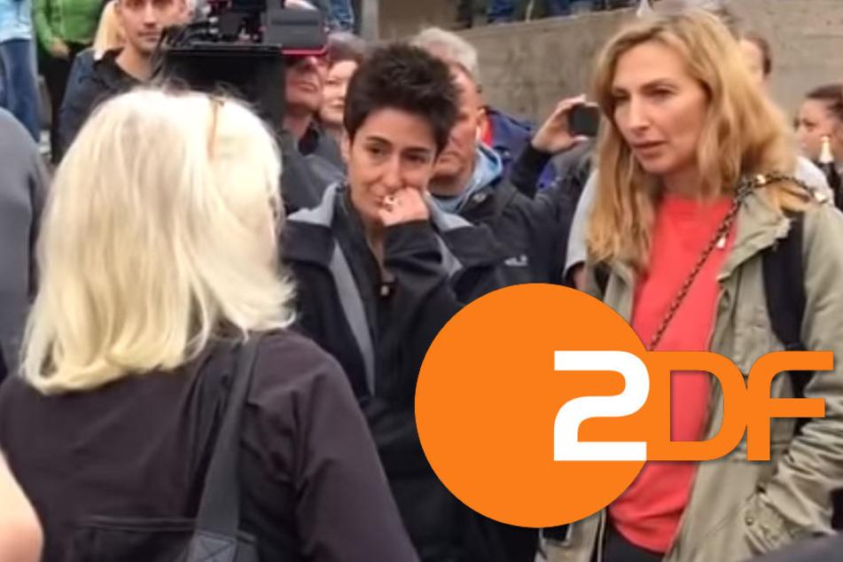 """Dunja Hayali war in Chemnitz und fragt im ZDF: """"Wie geht's nun weiter?"""""""