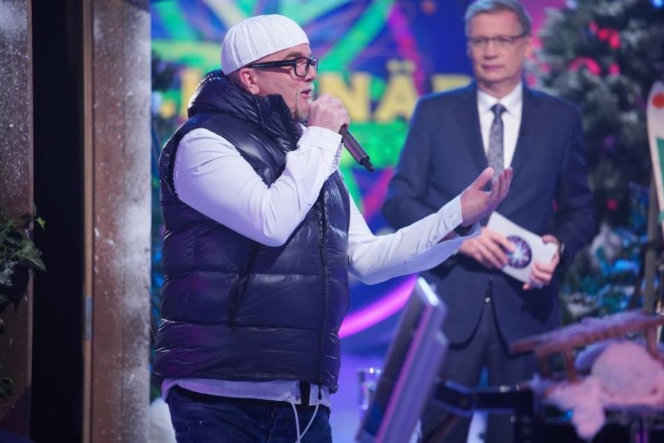 DJ Ötzi und Günther Jauch bei Wer wird Millionär.