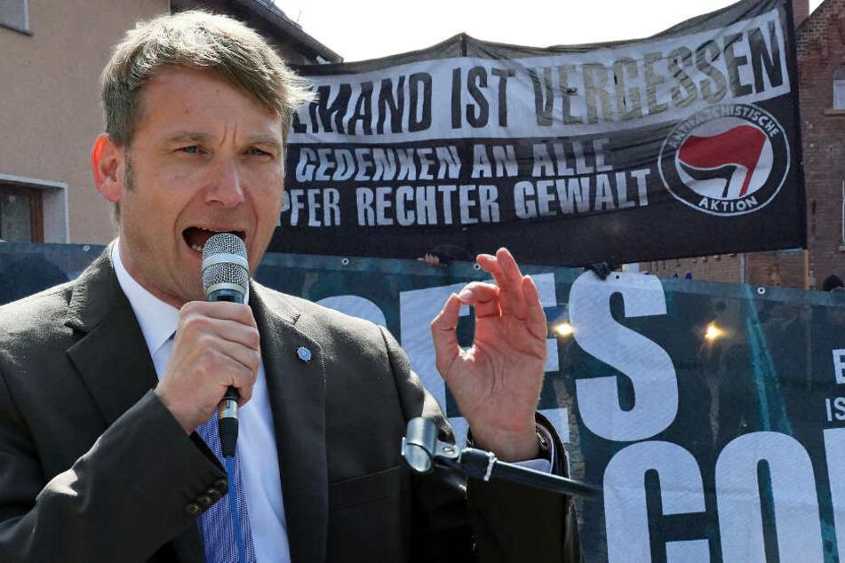"""""""Leipzig nimmt Platz"""" protestiert in André Poggenburgs Wohnort"""