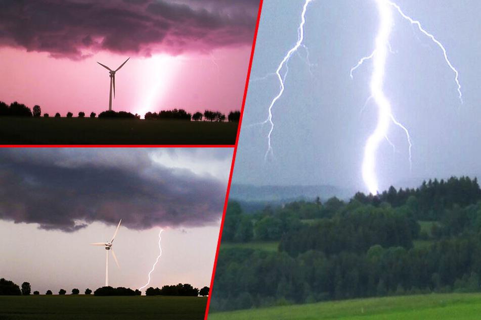 Blitz-Spektakel über Deutschland! Hier hat es schon eingeschlagen