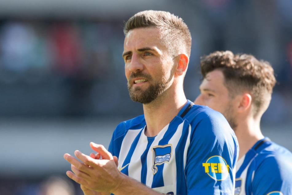 Kapitän Vedad Ibisevic will auch in der kommenden Saison für die Hertha spielen.
