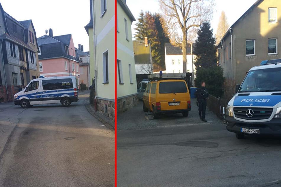 Die Polizei rückte mit drei Mannschaftswagen und einem gelben Tierfänger-Bus an.