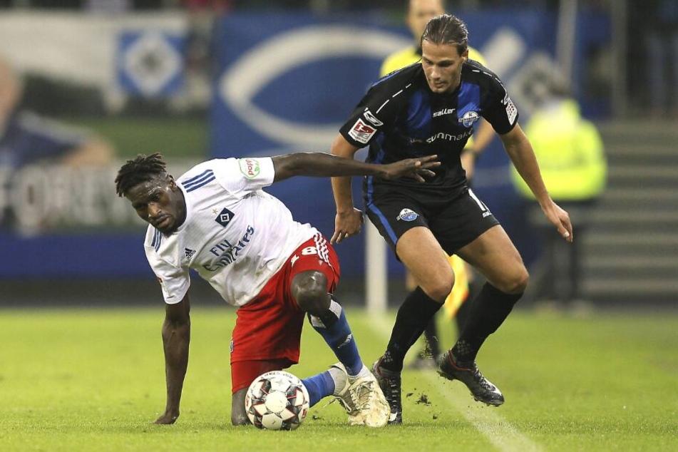 Sein letztes Spiel für den SCP absolvierte Tobias Schwede (r.) im Jahr 2018.