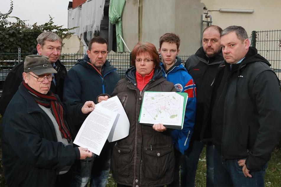 Vertreter der Bürgerinitiative Pirna-Neuendorf.