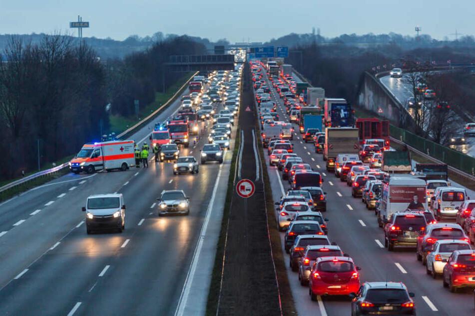 Auf der A66 kam es zu einem Unfall mit vier Fahrzeugen.