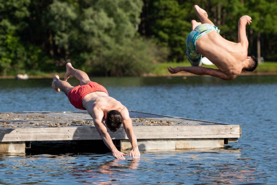 Beim Baden am See sind gute Schwimmkenntnisse eine wichtige Voraussetzung.