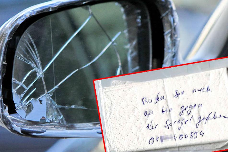 """Wer kennt die Handschrift auf diesem """"Unfallzettel""""?"""