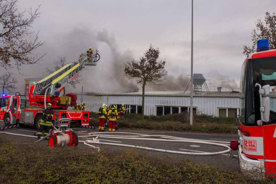 Zahlreiche Feuerwehren sind im Einsatz.