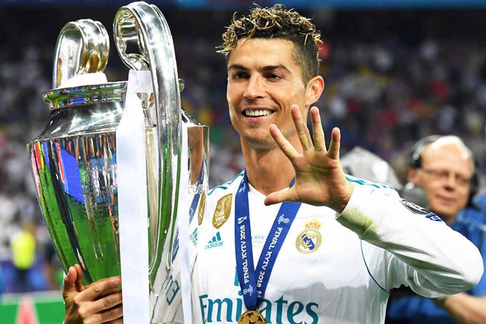 Fünf Mal gewann Cristiano Ronaldo bisher die Champions League. Wird er das in Zukunft auch mit Juventus Turin schaffen?