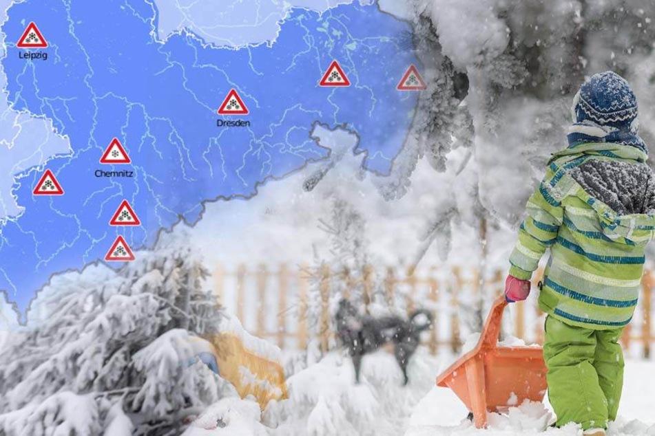 In Sachsen gibt es am Wochenende wieder bis zu fünf Zentimeter Neuschnee.