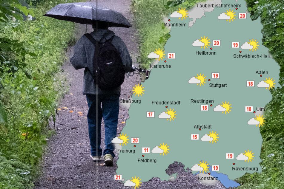 So wird das Wetter in Baden-Württemberg am Freitag. (Fotomontage)