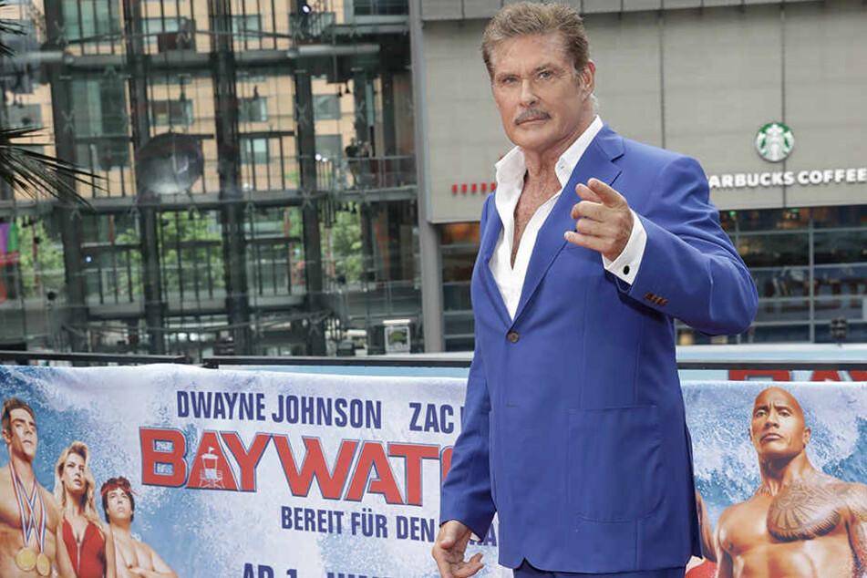 """""""The Hoff"""" bei einem Photocall anlässlich des Kinofilms """"Baywatch"""", in dem er einen kleinen Gastauftritt hat."""