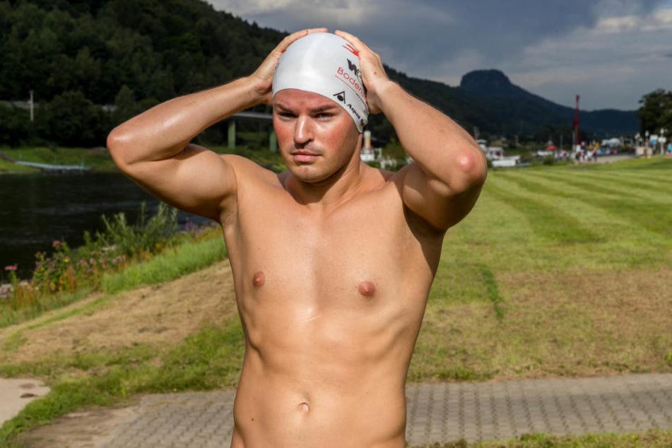 Joseph Heß (30) beim Start in Bad Schandau.