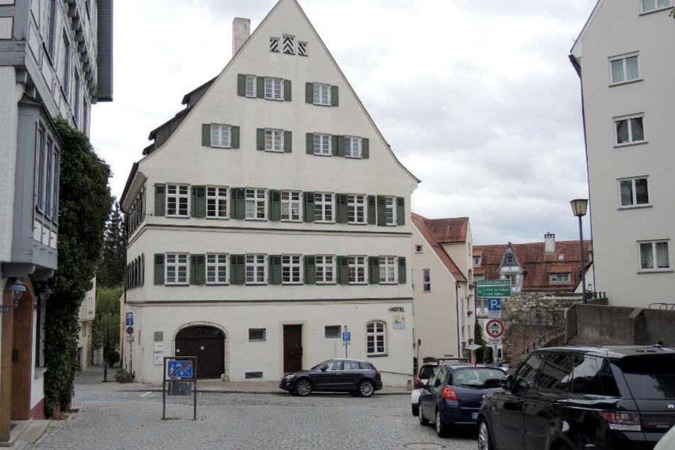 """Das Haus """"Engländer"""" im historischen Stadtzentrum von Ulm."""