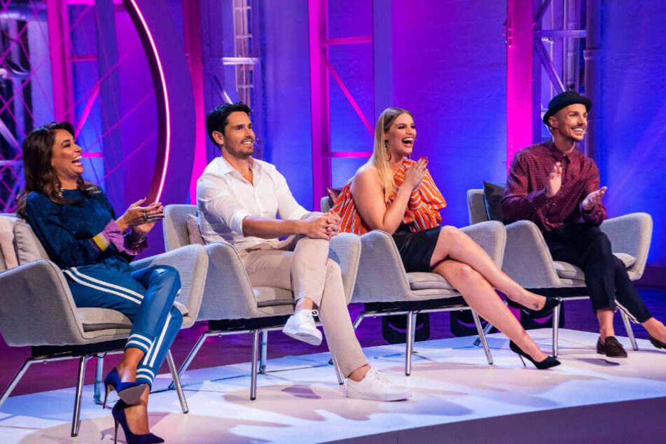 """Die Jury der RTL-II-Castingshow """"Curvey Supermodel"""" besteht aus Jana Ina Zarella (von links nach rechts), Jan Kralitschka, Angelina Kirsch und Oliver Tienken."""