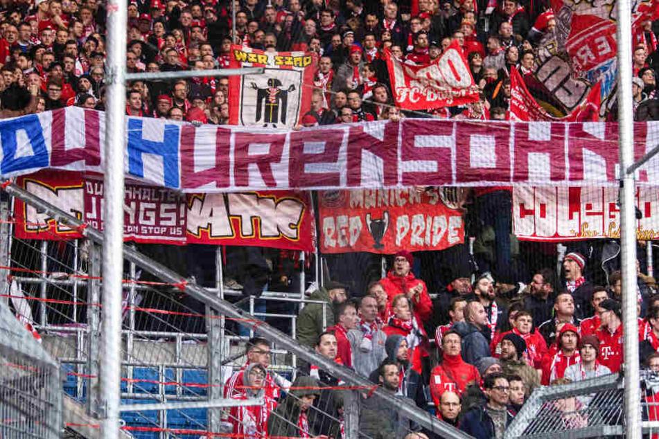 """Einige """"Fans"""" des FC Bayern München sorgten in Sinsheim für einen Eklat."""