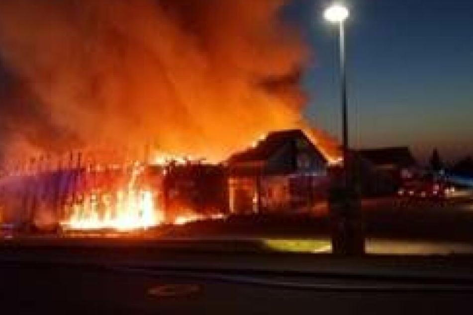 Der Supermarkt in Kalbe (Sachsen-Anhalt) brannte in der Nacht zu Karfreitag nieder.
