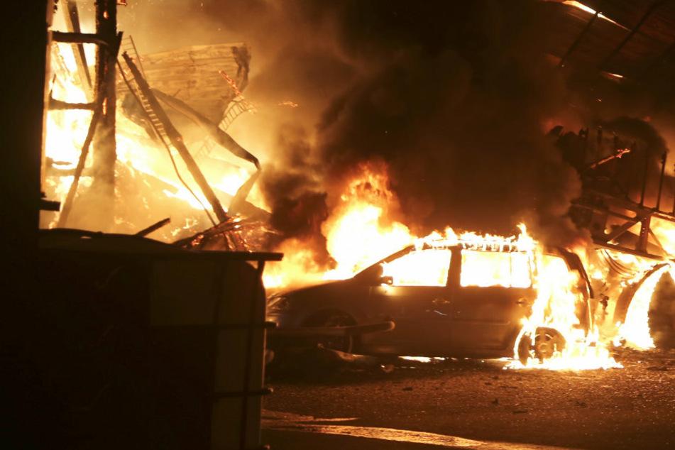 Flammen-Inferno auf Bauernhof: Brand sorgt für Großeinsatz