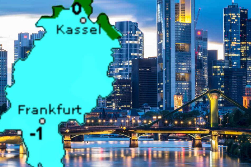 Auch der Dienst Wetteronline.de (Grafik) rechnet mit leichtem Frost in den Nächten in Hessen.