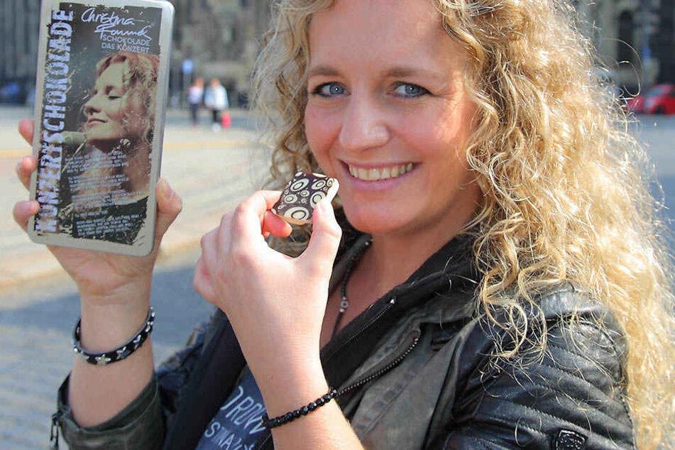 """""""Ohne Schokolade gehe ich nicht  aus dem Haus"""", lacht Sängerin Christina Rommel (35)."""