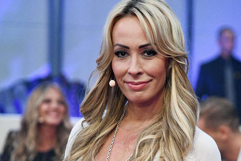 """Cora Schumacher bei der SAT1-Sendung """"Promi Big Brother"""" in 2018."""