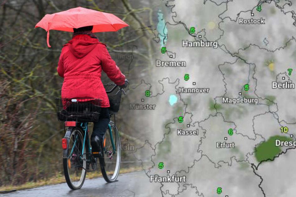 Wetter in Deutschland: So mies wird es zum Wochenbeginn!