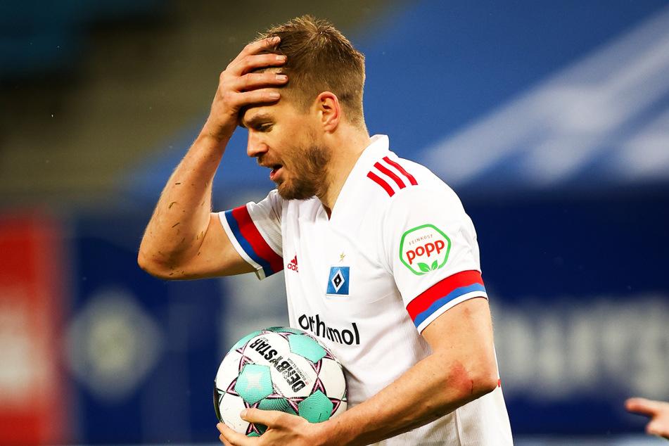 Eigentlich eine Tor-Garantie für den HSV: Simon Terodde (33). Doch gegen Darmstadt gelang ihm so gut wie nichts.