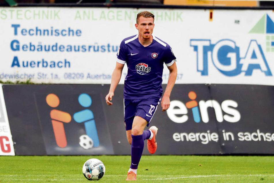 Steve Breitkreuz bestritt sein letztes Punktspiel für den FC Erzgebirge am 28. April beim 3:2-Heimsieg gegen den VfL Bochum. Montag könnte es wieder soweit sein.