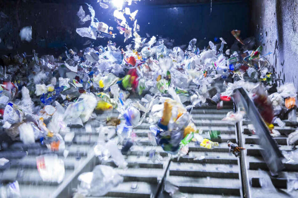 Metalle, Verbundstoffe, Kunststoffe: In der Sortieranlage wird der Müll in verschiedene Materialien getrennt.