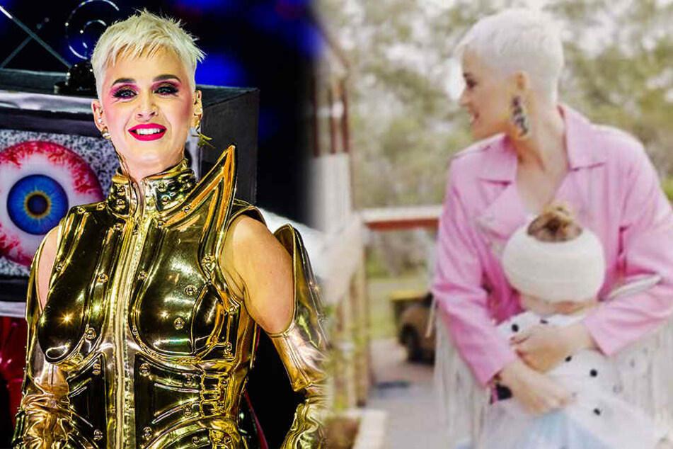 Das Überraschungskonzert für die kleine Grace (rechts) ist Katy Perry wohl gelungen.