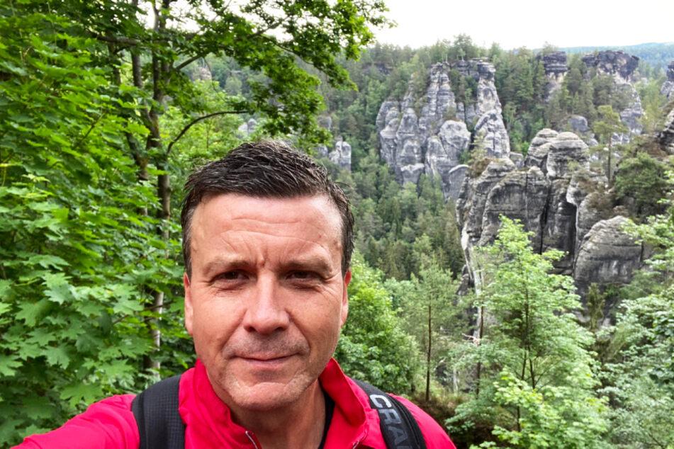 DSC-Chefcoach Alex Waibl war beeindruckt von der Felsenwelt an der Bastei.