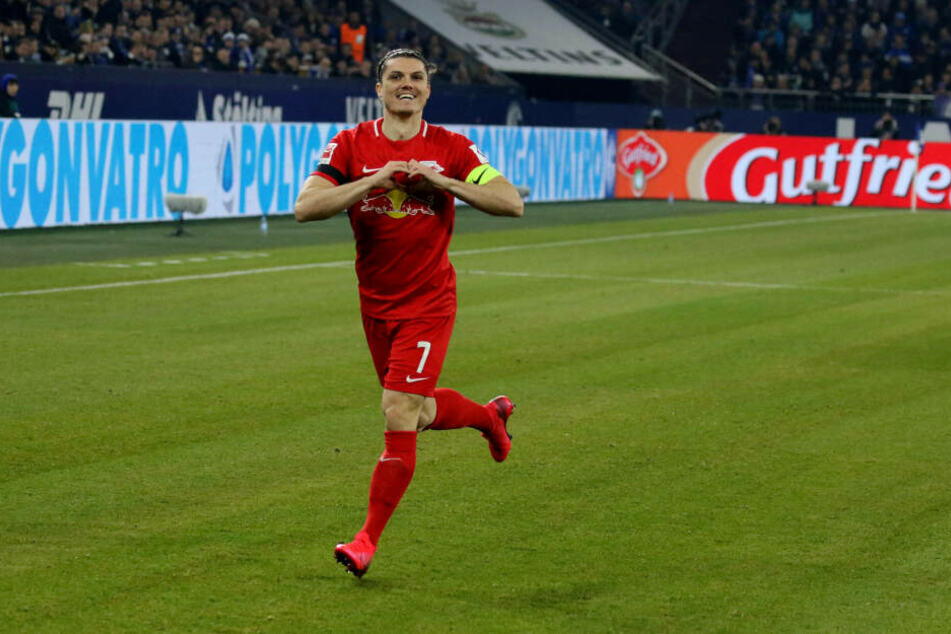 1:0: Marcel Sabitzer nach 55 Sekunden.