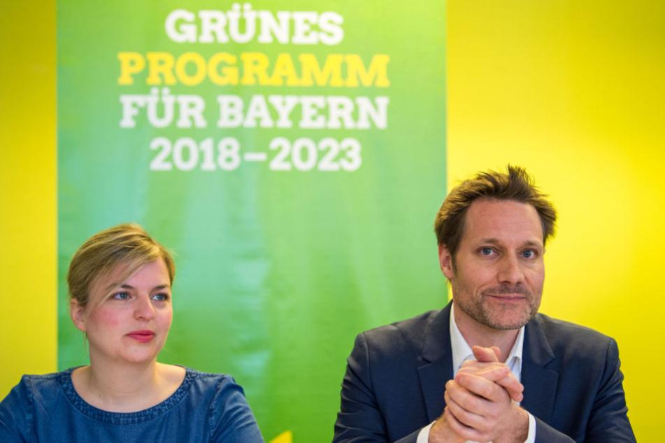 Katharina Schulze und Ludwig Hartmann sind die Spitzenkandidaten der Grünen.