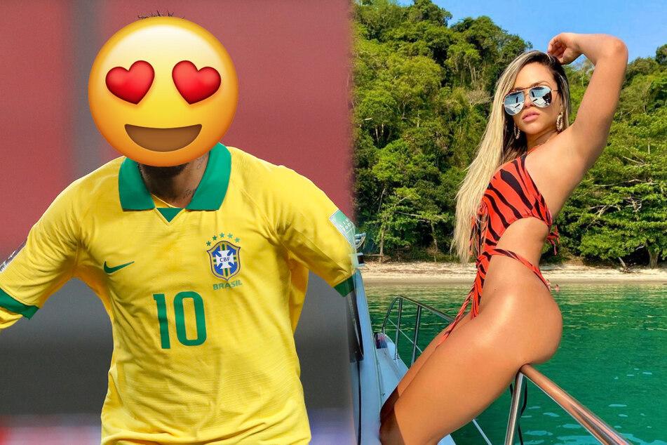 Mit welchem Fußballer führt diese sexy Brasilianerin angeblich eine offene Beziehung?