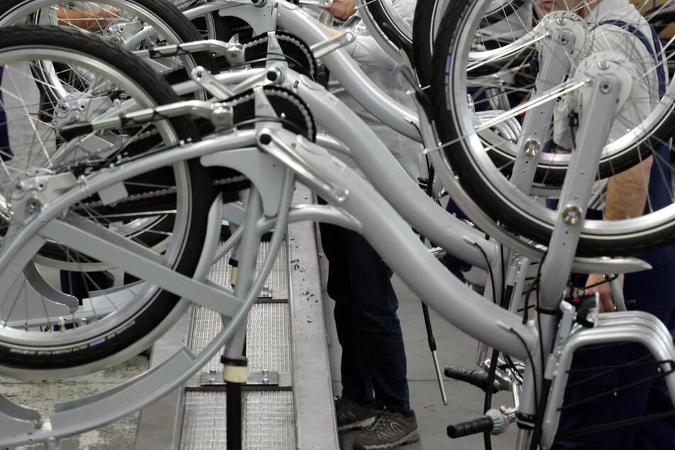 Fahrradherstellung im Sachsenring-Bike-Werk in Sangerhausen.