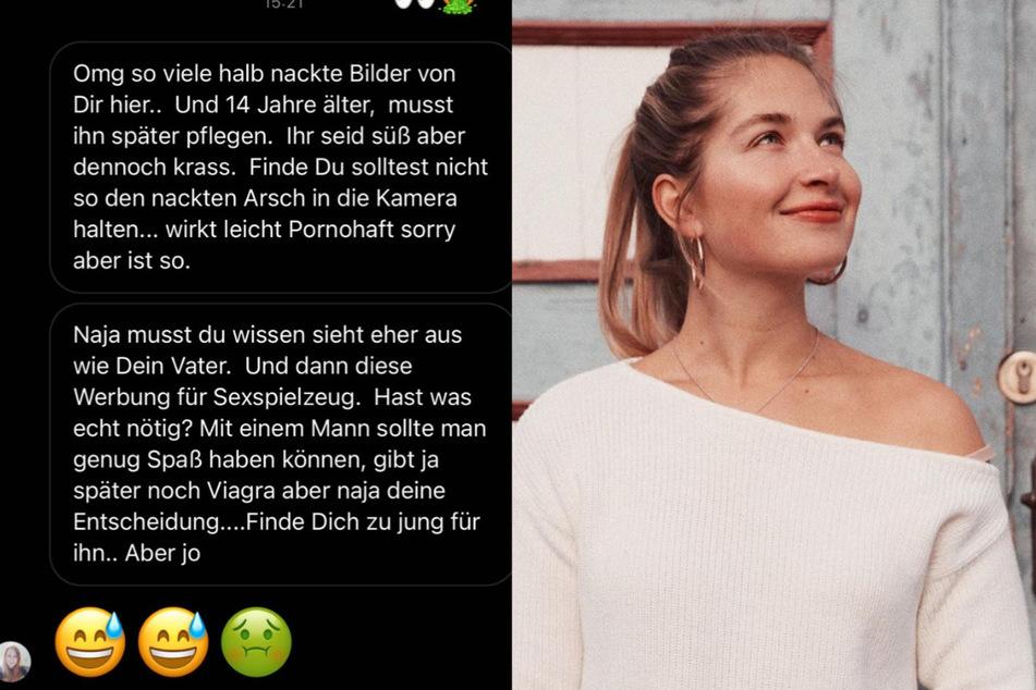 """Auch mit """"Hate"""" muss Charlotte Weise (28) umgehen. (Fotomontage)"""
