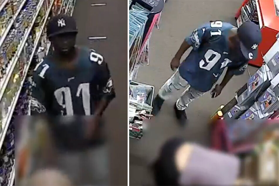 NYPD hunting pervert who was caught licking a woman's back in a beauty store