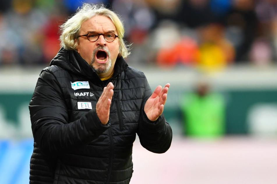 Heiko Scholz gab beim 1:1 gegen Sandhausen sein Debüt als (Interims-)Trainer der Dresdner.
