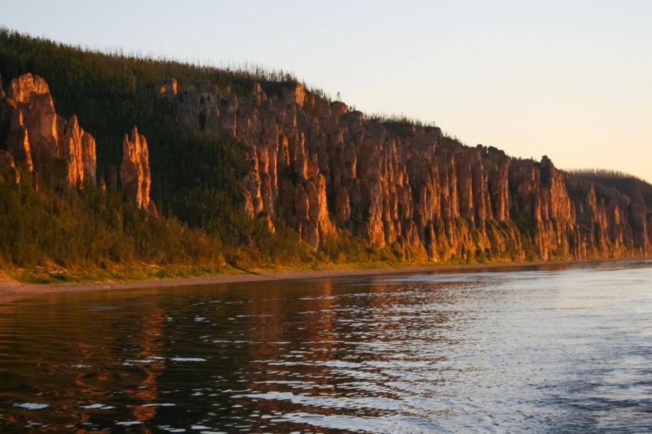 Der Fluss Lena im östlichen Sibirien: Der Klimawandel sorgt für zunehmende Uferschäden.