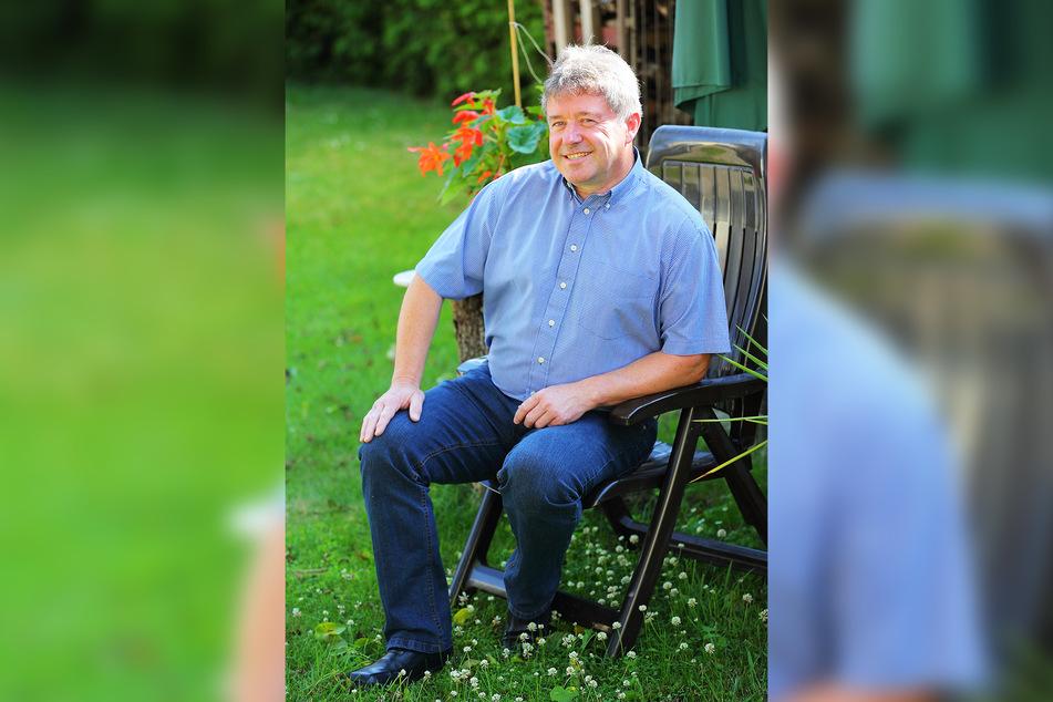 Registrierte sich 1999 als Spender, rettete so 17 Jahre später einen Patienten: Ralph Krenz (57) aus Arnsdorf.