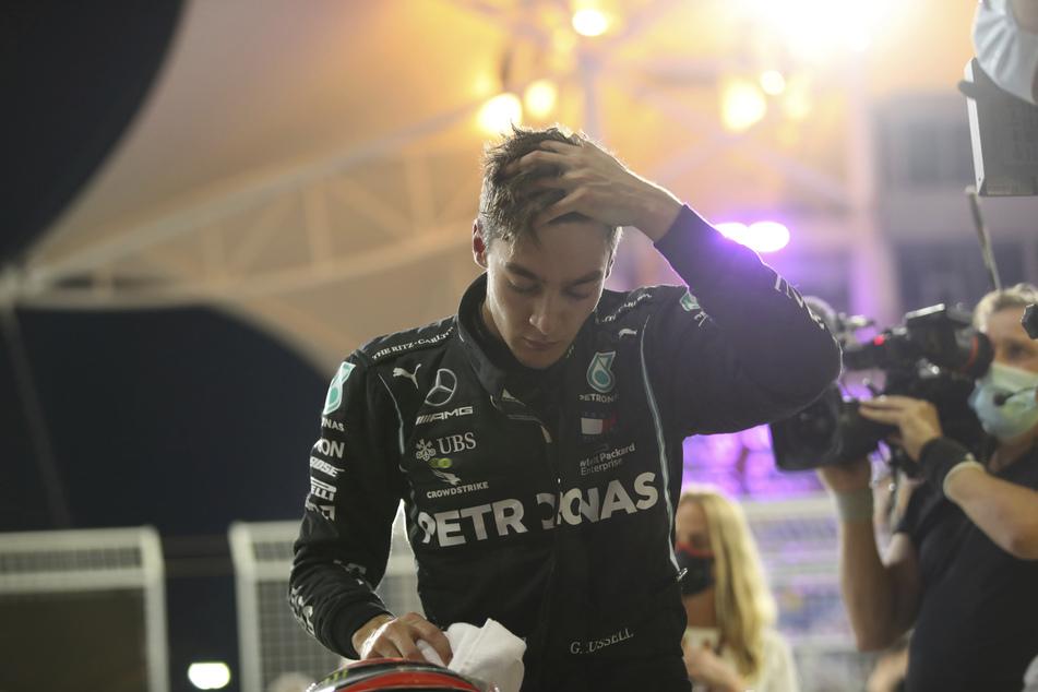 Beim Qualifying fuhr George Russell (22) noch die zweitbeste Zeit. Durch einen verpatzten Reifenwechsel seines Teams Mercedes fiel er zurück.