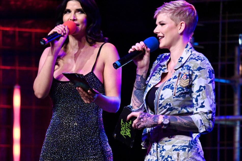 Micaela Schäfer (36, l.) und Melanie Müller (31) treten im Comedy Central Roast Battle gegeneinander an.