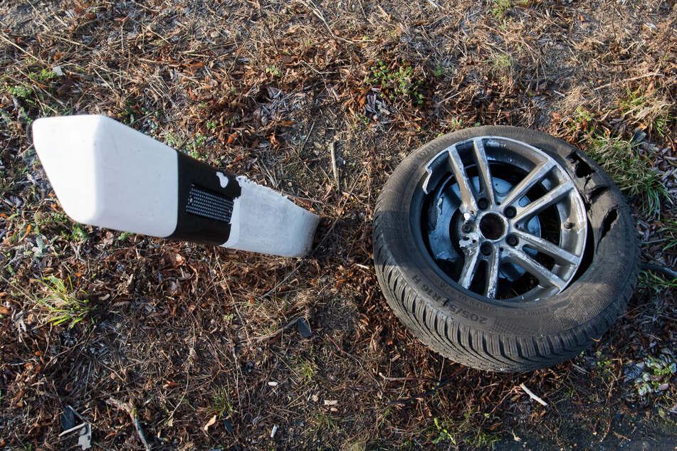 Durch den harten Aufprall wurde der 25-Jährige aus seinem Auto heraus in ein Gebüsch geschleudert. Möglicherweise hatte er keinen Sicherheitsgurt angelegt. (Symbolbild)
