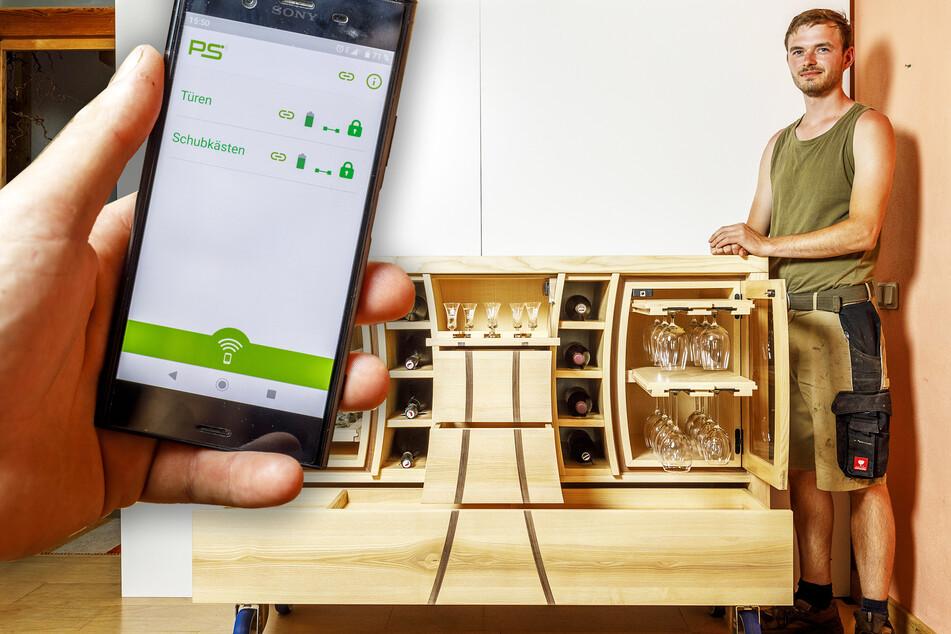 Innovativer Kinderschutz: Tischler verwandelt Hausbar in einen Tresor!