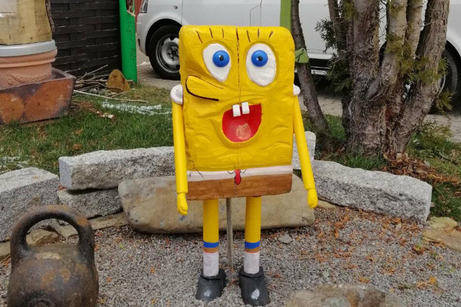 Erzgebirgischer Holzkünstler entsetzt: Wer hat SpongeBob geklaut?