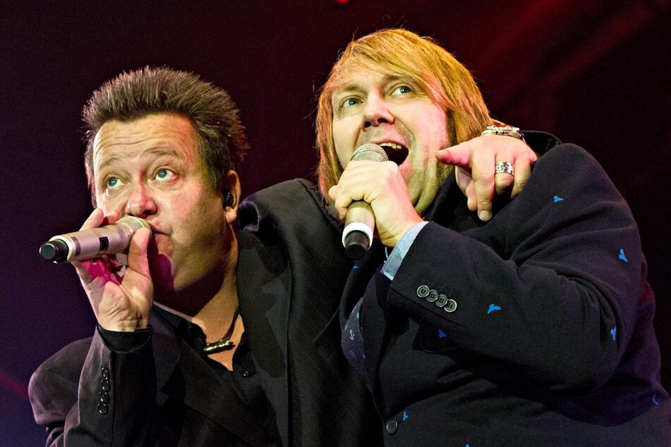 Die Leipziger Pop-Band feiert am 29. Januar mit einer neuen Single ihr Comeback. Dabei waren sie nie wirklich weg. Hier zu sehen: Sebastian Krumbiegel und Tobias Künzel bei den Feierlichkeiten zum Tag der Deutschen Einheit 2013 in Stuttgart. (Archivbild)